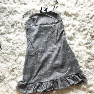 LF Plaid ruffle dress